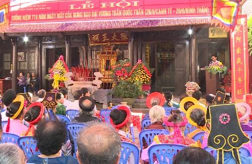 Thành phố Hưng Yên tổ chức lễ hội đền Trần
