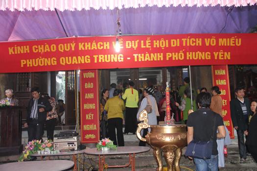 Lễ hội đền Võ Miếu
